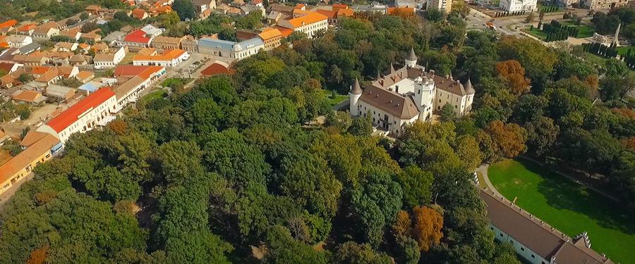Castelul Karolyi din Carei si parcul - Cadru aerian filmat cu drona