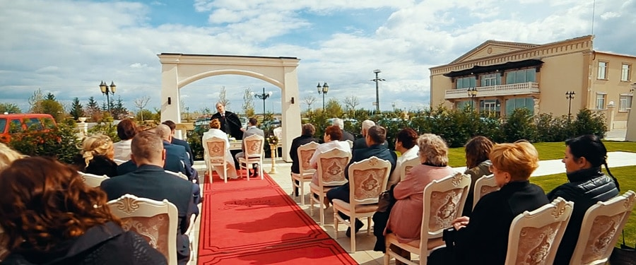 Ceremonie aer liber in ziua nuntii, Restaurant Simfonia Satu Mare