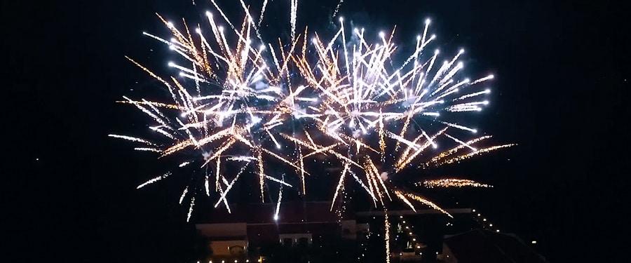 Foc de artificii la Simfonia Satu Mare