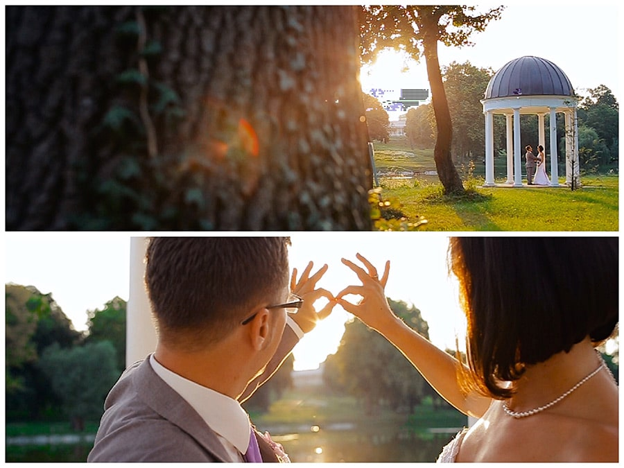 Sedinta video inainte de apusul de soare la Castelul Karolyi din Fehervarcsurgo, Ungaria