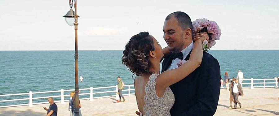 Filmare in ziua de nunta la Constanta