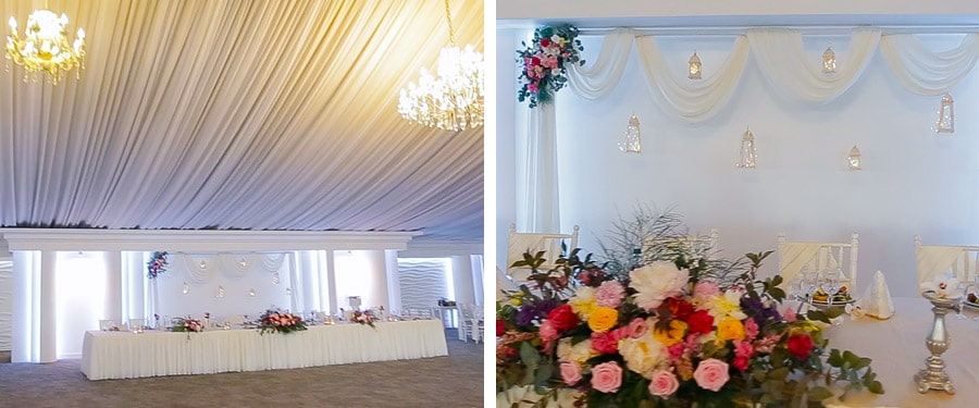 Decor nunta Infinity Ballroom Satu Mare