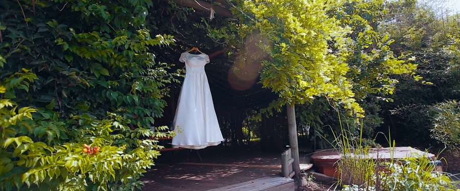 Nunta in aer liber, rochia de mireasa