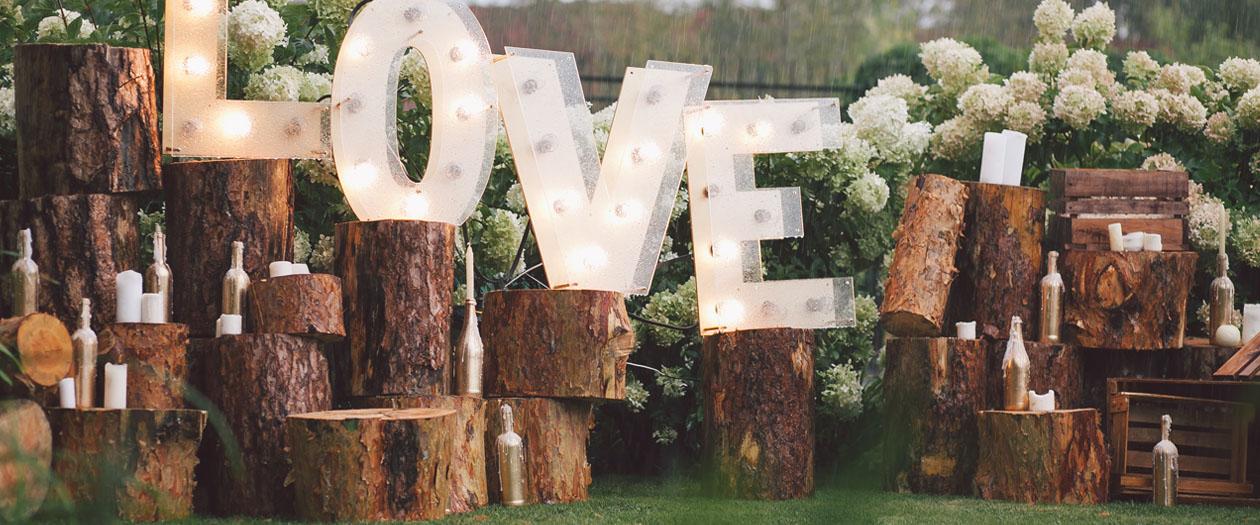 Decoratiuni la nunta in aer liber